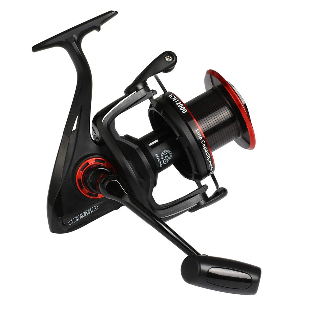 Diwa Spinning Fishing Reels 8000 10000 12000 Series Freshwater Saltwater Big-Game Fishing Surf Fishing 12 1 Stainless BB 70 LBS Max Drag Ultra Smooth Powerful Trout Durable Spinner Gear