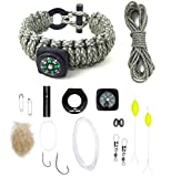 Last Man Survival Gear Paracord Kit Bracelet, Small (6-Inch-by-7.5-Inch), Digital with Compass