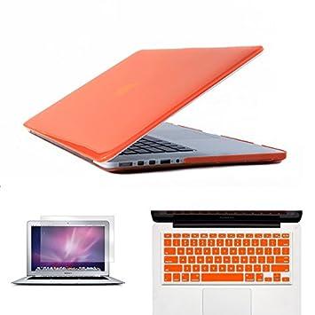 3 en 1 ordenador portátil funda para MacBook Air Pro Retina 11 12 13 15 Crystal