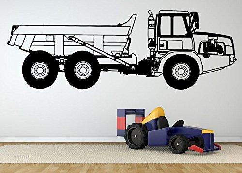 Wall Room Decor Art Vinyl Sticker Mural Decal Dump Truck ...