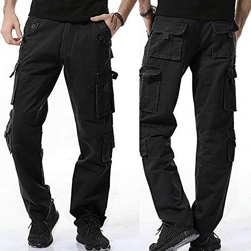 Comode Unita Multitasche Da A Nero Dell'esercito Combattimento Abiti Pantaloni Fashion Hx Tinta Uomo Sportivi Robusti Con Taglie wqC0qgxA
