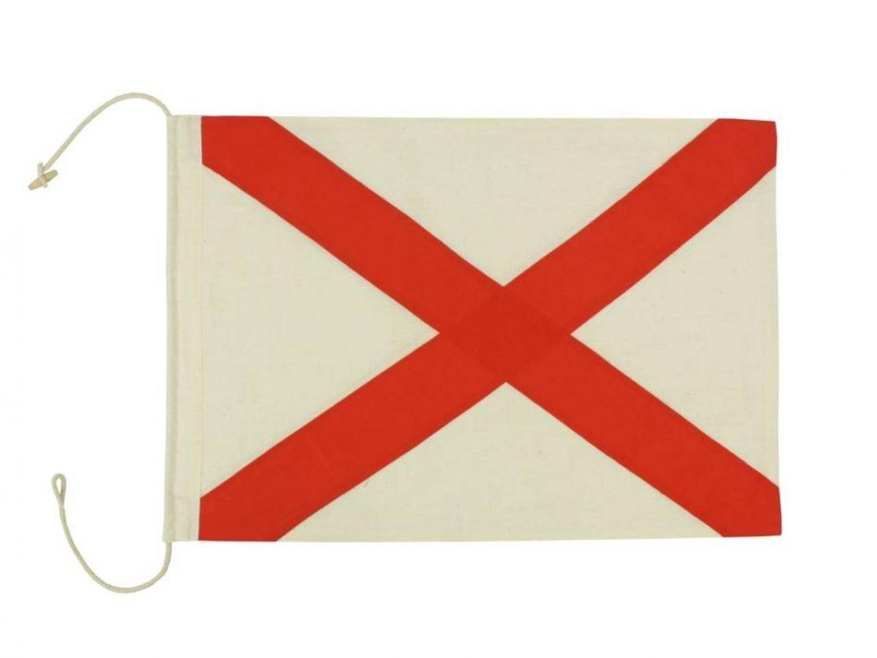 Hampton Nautical  Letter V Nautical Cloth Alphabet Flag, Decor, Home Decoration, Wall Art Tool, 20''