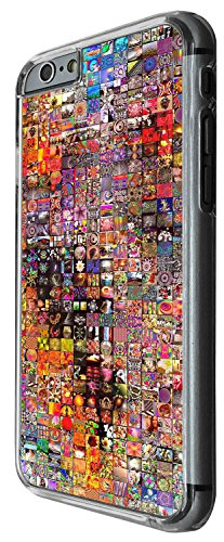 1264 - Cool Fun Trendy cute heart valentines day love collage fashion Design iphone 5 5S Coque Fashion Trend Case Coque Protection Cover plastique et métal - Clear