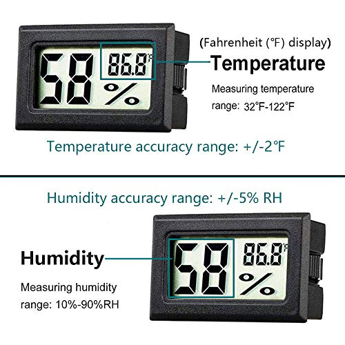 Goabroa 12 Pack Mini Hygrometer Thermometer Digital Indoor Humidity Gauge Monitor with Temperature Meter Sensor Fahrenheit ℉
