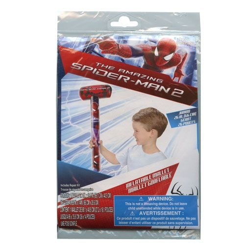 Marvel Spider-Man Inflatable Swim Summer Fun Package Deal (Floaties, Beach Ball, Swim Ring, Mallet, Sword, Raft) by Marvel (Image #4)