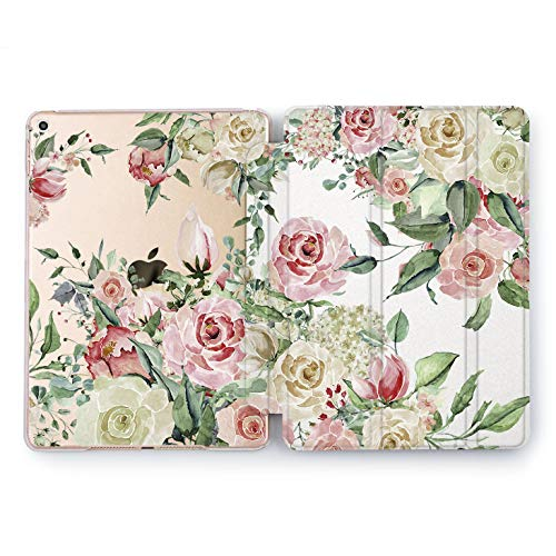 Wonder Wild Sweet Rose iPad Case 2018 2017 9.7 inch Watercolor Beautiful Flowers Cover Mini 1 2 3 4 Air 2 6th 5th Generation Pro 10.5 12.9 Tab Gentle Peony Print Pink Peach Floral Pattern Design