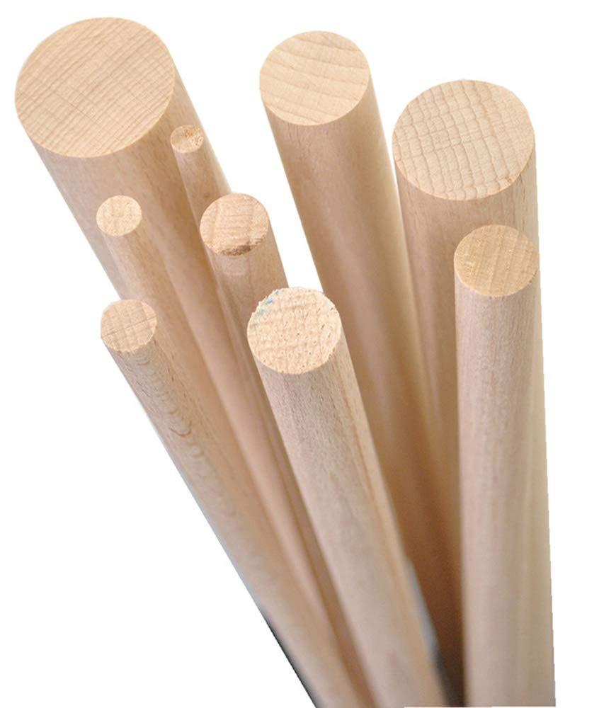 10 x 1000 mm Hecho en Alemania GedoTec/® 10x Varillas redondas haya liso Tarugos de madera Varillas tarugo| Largo 1000 mm /Ø 6-65 mm
