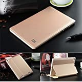 """MOCA Wake/Sleep Function PU Leather Stand Flip Carry Case Cover For Xiaomi Mi Pad 7.9"""" Inch Smart Flip Cover Case (Gold)"""
