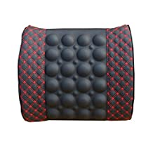 Rumfo Car Lumbar Electric Massage Waist Pillow, Vibrating Massage Cushion Helps Ease Back Pain and Soreness - Attaches to Car Seats and Office Chairs - Compact and Portable