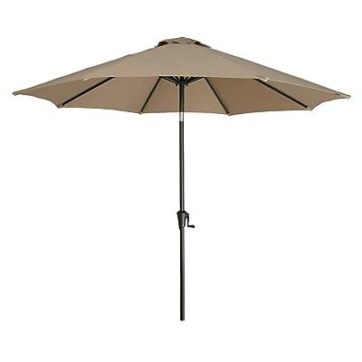 Ulax Furniture 9 Ft Outdoor Umbrella Patio Market Umbrella Aluminum