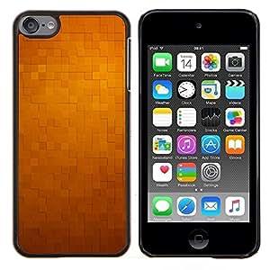 - 3d pattern checkered yellow tiles - - Modelo de la piel protectora de la cubierta del caso FOR Apple iPod Touch 6 6th Generation RetroCandy