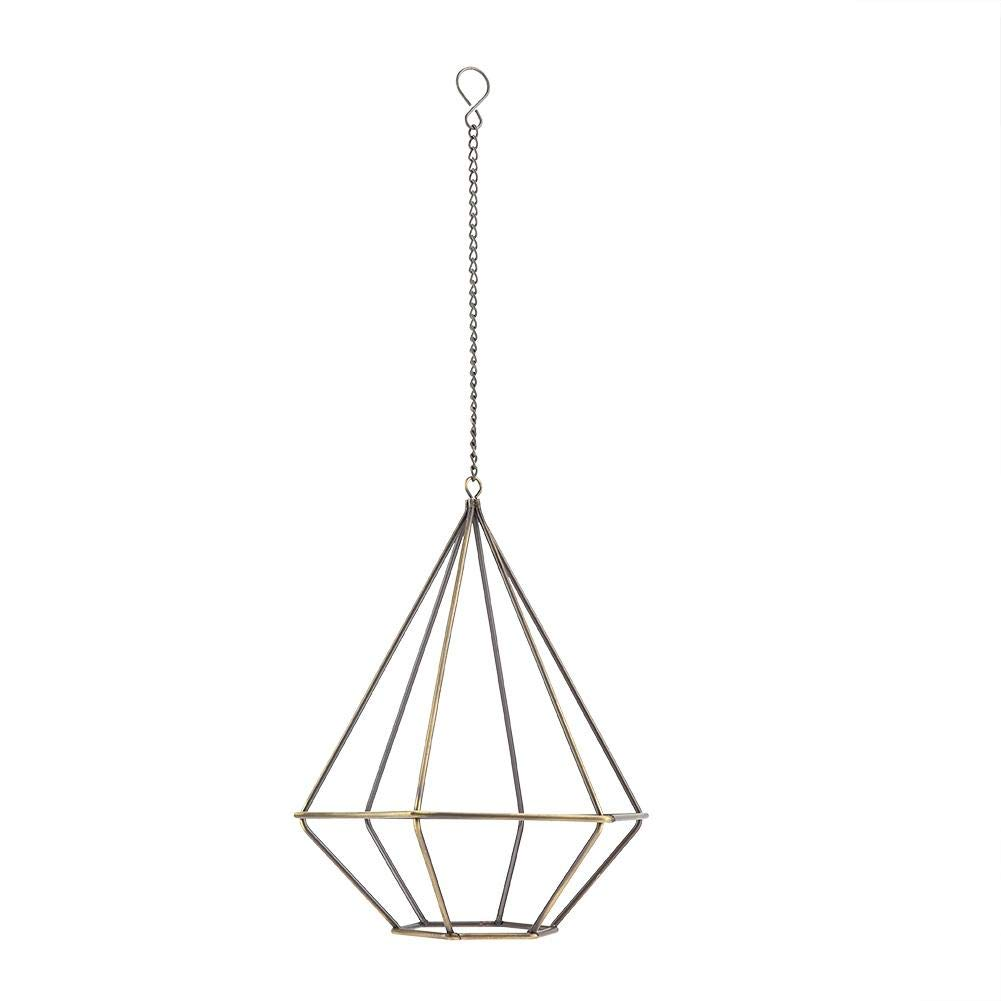 Gro/ß Fdit Hanging Planter Iron Geometric Hanging Wall Plant Holder with Chain Hanging Flower Pot Indoor Garden Decoration Multiway PACKING socialme-eu
