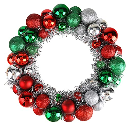 HAKACC Christmas Ball Wreath,13 Inches Christmas Ornament Garland Decoration for Festival Celebration Door Window Wall Home Wedding Party or Anniversary Decoration