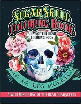 Dia De Los Muertos Skull Coloring