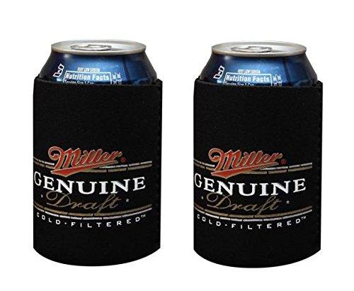 - Miller Genuine Draft MGD 12oz Beer Can Cooler Holder Kaddy Coolie Huggie Set of 2