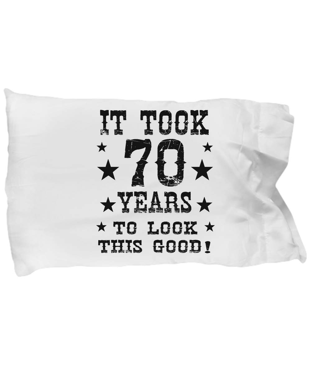 95901302 Amazon.com: Funny Novelty Gift for 70th Birthday Look Good 70 Year Cool  70th Birthday Pillow Case: Home & Kitchen