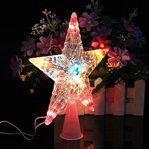 HeroStore Color Changing Xmas Christmas Tree Topper Star Light Party LED Lamp Decoration #20/18L
