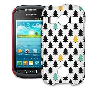 Phone Case For Samsung Galaxy S7710 Xcover 2 - Pine Trees Geometric Pastel Hard Glossy wangjiang maoyi