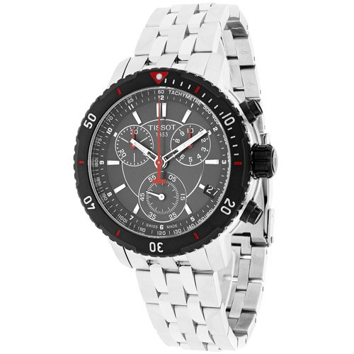 T0674172105100 Watch Tissot Men's PRS200 Stainless steel case, Stainless steel bracelet, Gunmetal dial, Quartz movement, Scratch resistant sapphire, Water resistant up to 20 ATM - 200 meters - 660 feet