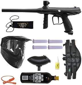 Tippmann Gryphon Paintball Marker Gun 3Skull 4+1 BC Mega Set - Black
