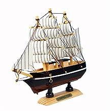 vismile Sailing Tall Ship Boat Wooden Model Craft Decor (Random Color)