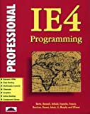 img - for Professional Ie4 Programming book / textbook / text book