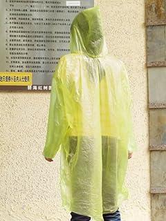 Homyl 12pcs Poncho Pluie Femme Homme Transparent Imperméable avec Capuche