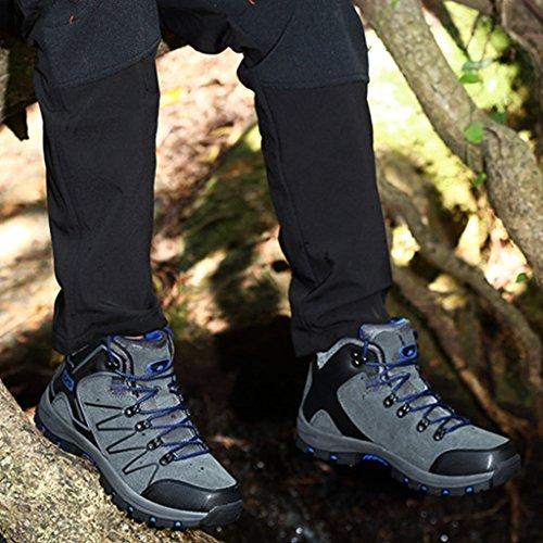 MagiDeal 1 Par Zapatos Impermeable Sendero para Senderismo Excursionismo con Mochila Trekking Unisexo Hombres-Gris