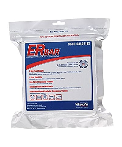 ER Emergency Ration 1B 3600 Calorie Food Bar for Survival Kits and Disaster Preparedness, Single Bar