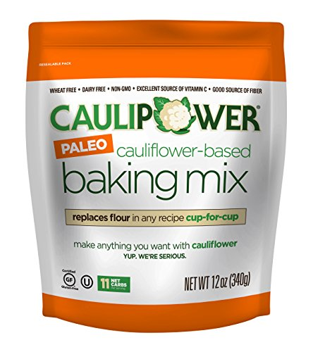 CAULIPOWER Cauliflower-Based Baking Mix, Paleo, 12 oz, Paleo All-Purpose Vegetable-Based Flour, Gluten Free, Grain Free, Non-GMO, Only 11 net (Low Fat Pizza)