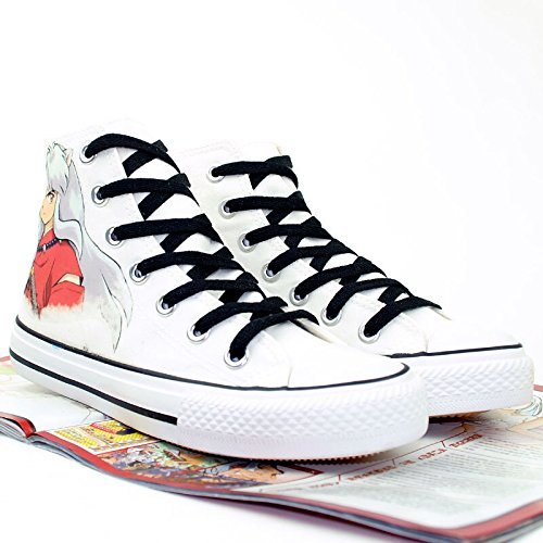 Inuyasha Inuyasha: Une Féodale Conte De Fées Cosplay Chaussures Toile Chaussures Sneakers Blanc