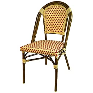 French bistro all weather patio dining chair set of 6 for Patio furniture covers amazon ca