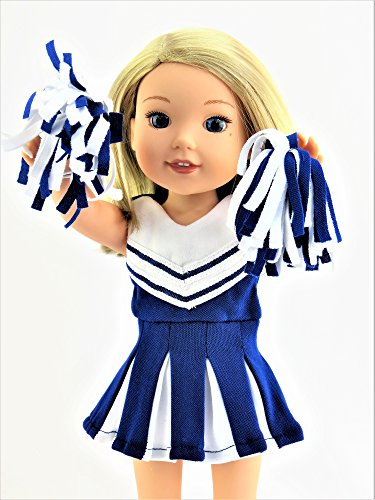 Blue Cheerleader for 14-inch Dolls - Fits 14 inch Dolls such as the Wellie Wishers