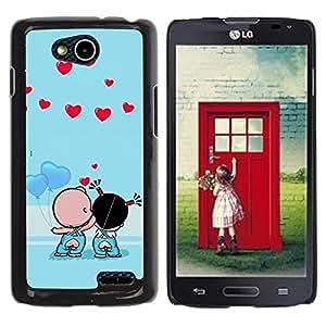 Be Good Phone Accessory // Dura Cáscara cubierta Protectora Caso Carcasa Funda de Protección para LG OPTIMUS L90 / D415 // Cute Couple Kiss Love
