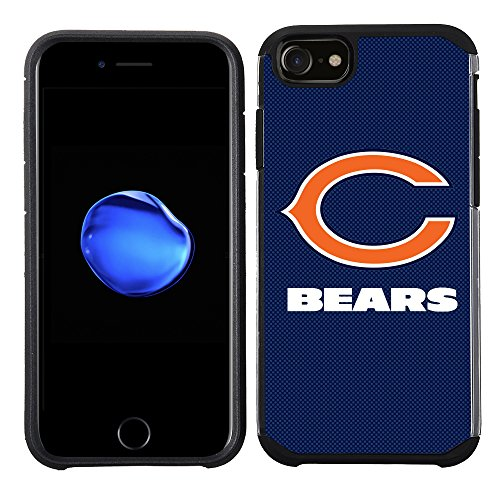 Prime Brands Group Cell Phone Case for Apple iPhone 8/ iPhone 7/ iPhone 6S/ iPhone 6 - NFL Licensed Chicago Bears Textured Solid Color