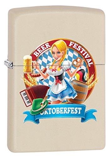 Zippo Custom Lighter: Oktoberfest Pin-Up Girl - Cream Matte 79080 for $<!--$12.98-->