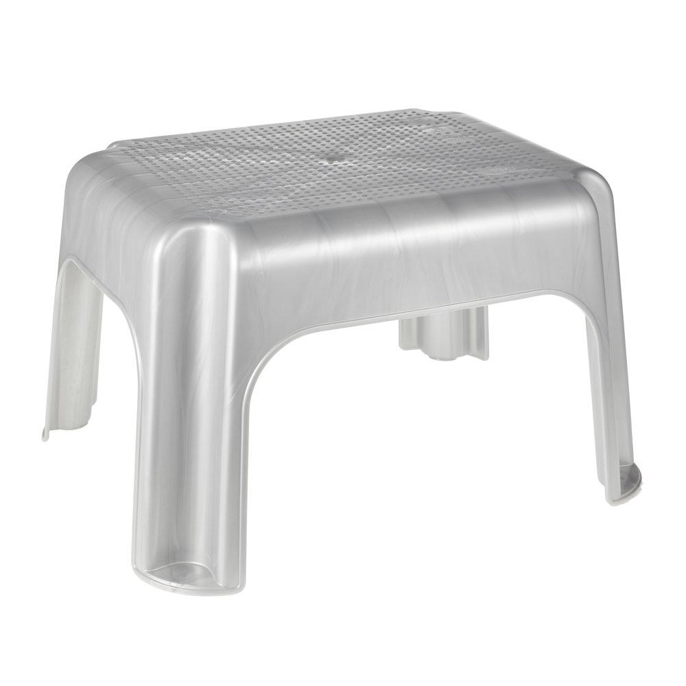 PP ok Tritthocker Stabiler Kunststoff 36,5 x 30 x 24 cm Graphit T/ÜV gepr/üfte Qualit/ät und Sicherheit