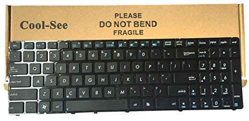 Cool-See Laptop Keyboard with Frame for ASUS G73 G51 G51J G51J3D G51Jx G51VX U50 U50A U50Vg U50F UX50 UX50V G53 G53JW G60 G60J G60Jx