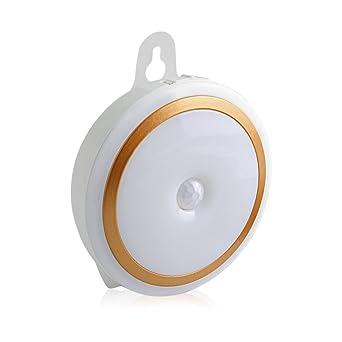 Aznoi 5LED Kabellos Wiederaufladbares Nachlicht, Inenleuchte Mit 2 Licht  Modi Für Kinder, Bewegungsmelder Nachtlampe