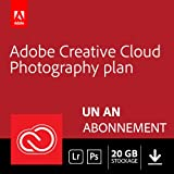 Formule Adobe Creative Cloud Photographie avec 20 Go: Photoshop CC + Lightroom CC | 1 an | PC Téléchargement