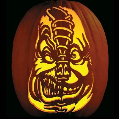 Pumpkin Carving Tattoo Pattern Villafane Lace Face - Funny Pumpkin Carving