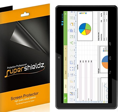 [3-Pack] Supershieldz- High Definition Clear Screen Protector For RCA Pro 10 Edition Tablet (RCT6103W46) + Lifetime Replacements Warranty [3-PACK] - Retail Packaging