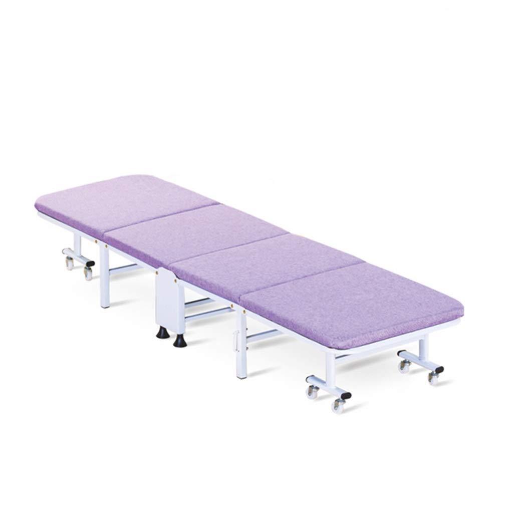 折りたたみキャンプベビーベッド、強く安定した折りたたみ式屋外ベッド屋内&屋外使用、旅行のためのヘビーデューティデザイン、オフィス昼寝、ビーチの職業 (Color : Purple) B07SN34L6M Purple