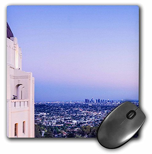 3dRose Boehm Photography Travel - Los Angeles from Griffith Park Observatory - Mousepad (mp_223428_1)