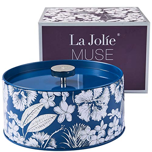 LA JOLIE MUSE Large Soy Wax Scented Candle - Big 3 Wick Candles Home Fragrance Gift, 14OZ Crispy Cotton