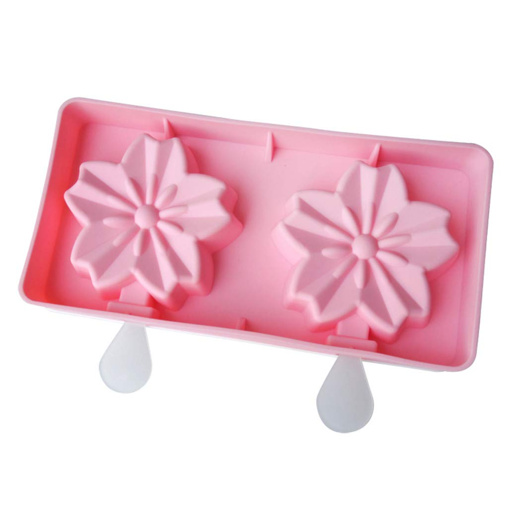 Staron Homemade Popsicle Silicone Molds With Lid,DIY ICE Cream Maker Reusable Mold (B)