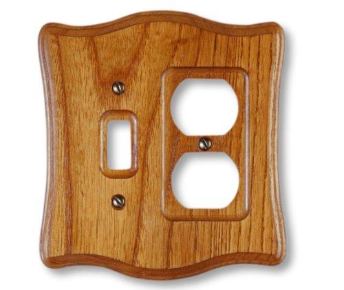 Amerelle 176TD Contemporary Wood Toggle Duplex Wallplate, Tavern ()