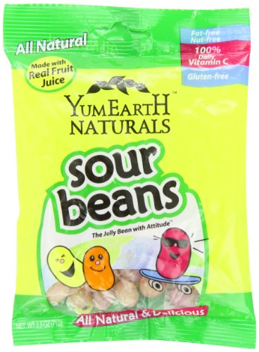 YummyEarth Sour Jelly Beans, 2.5 Ounce, 12 count