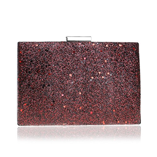 bag American And Rose evening Hand Bag New red Bag Color European Fly Ladies Fashion Red Bag Sequin Evening Evening Banquet cXZqwWYR