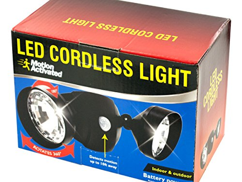 4-Packages of Motion Activated Cordless LED Light by Kole Imports